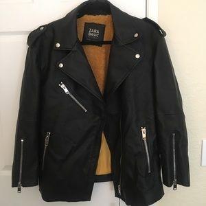 Zara Oversized leather jacket